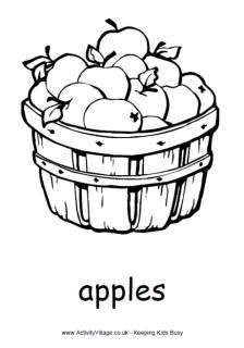 Autumn Colouring Pages Fruit Coloring Pages Apple Coloring