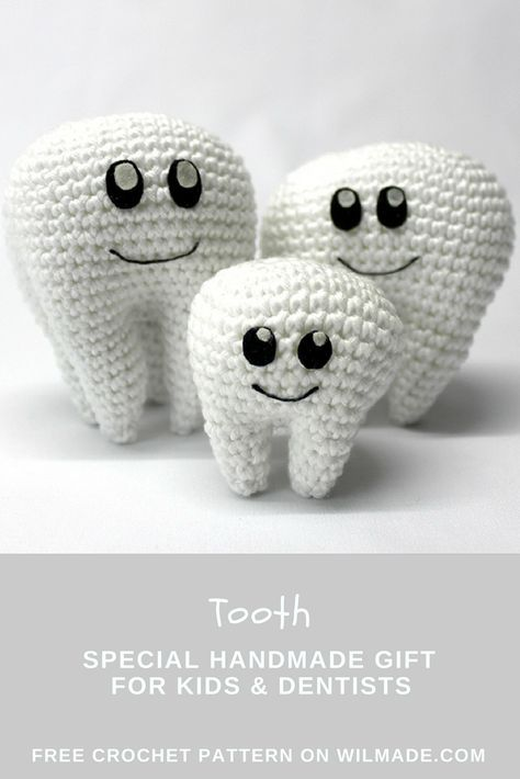 Tooth crochet pattern - free molar crochet pattern | Pinterest ...