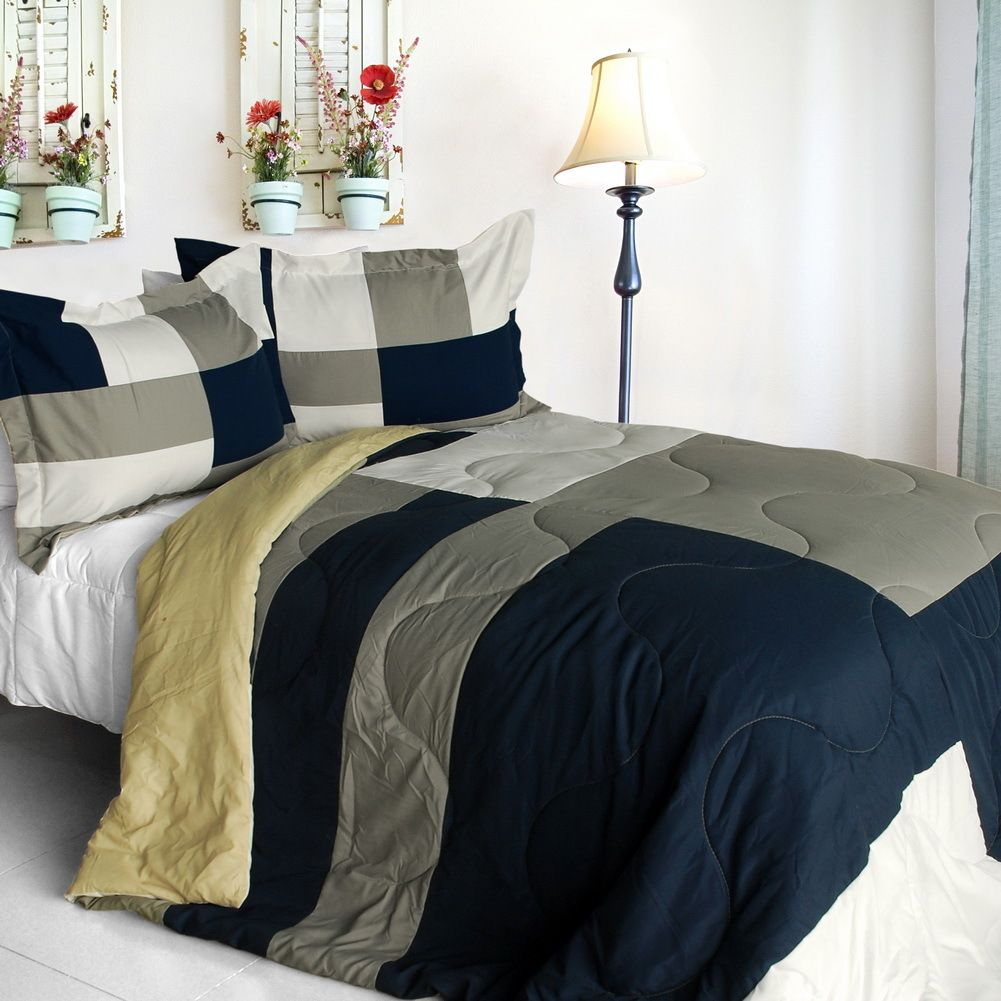 Esprit Comforter Set Sheet Lily King Size Spice Quilted Patchwork Down Alternative 1001x1001