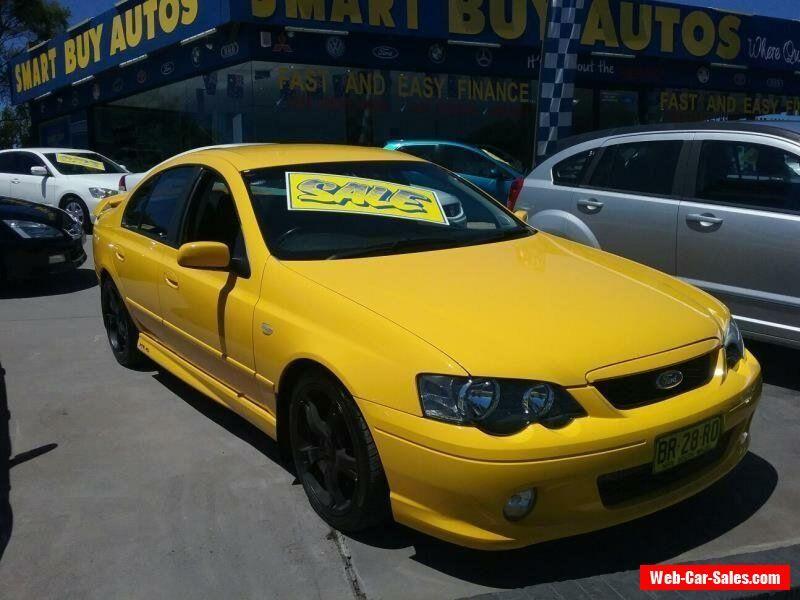 2004 Ford Falcon Ba Mkii Xr6t Yellow Automatic 4sp A Sedan Ford