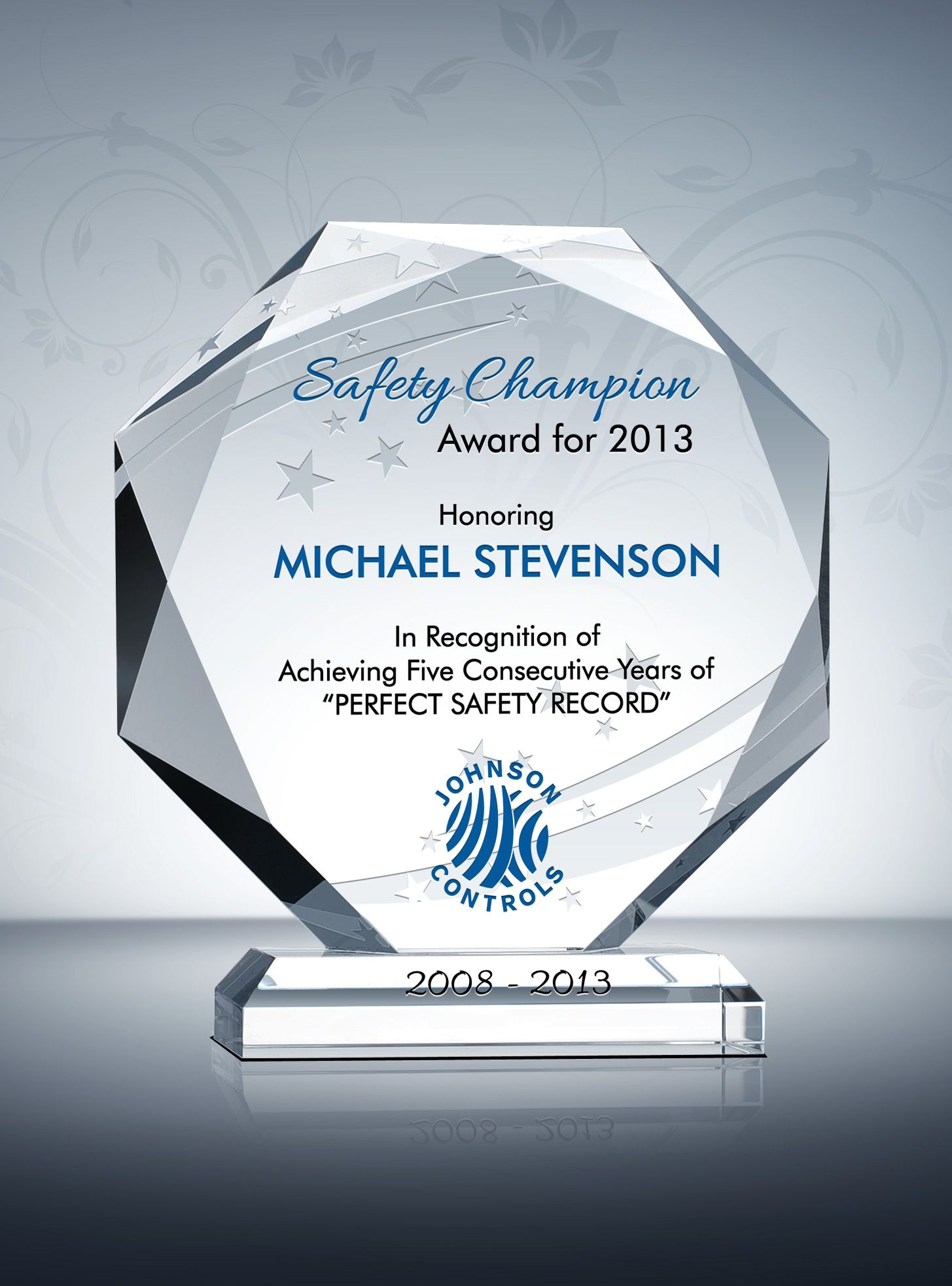Octagon Safety Recognition Plaque & Safety Incentive Ideas
