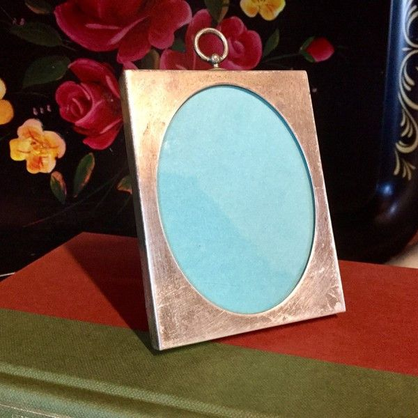 Sterling Silver Vintage Oval Tiffany Picture Frame With Bakelite
