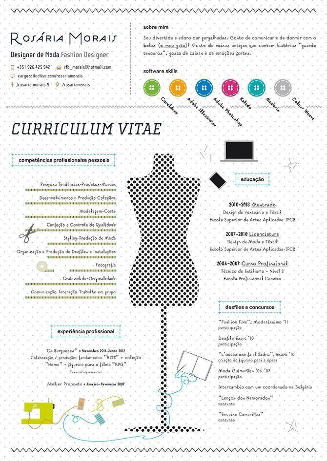 Fashion Design Resume Cv Icons  Google Search  Curriculum Vitae Creative Ideas