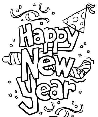 Happy New Year 2021 Coloring Pages in 2020 New year