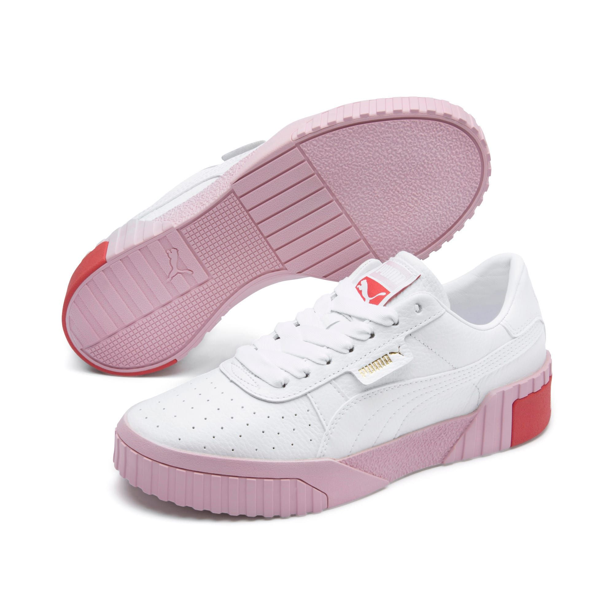 PUMA Cali Women's Trainers in White/Pale Pink size 6.5 ...
