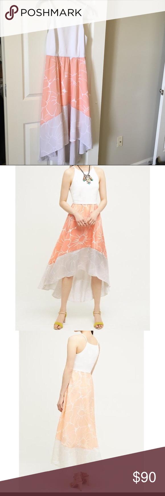 96431856ffbc Anthropologie High Low Peachy Dress by Hutch RARE Anthropologie High Low  Peachy Dress by Hutch RARE