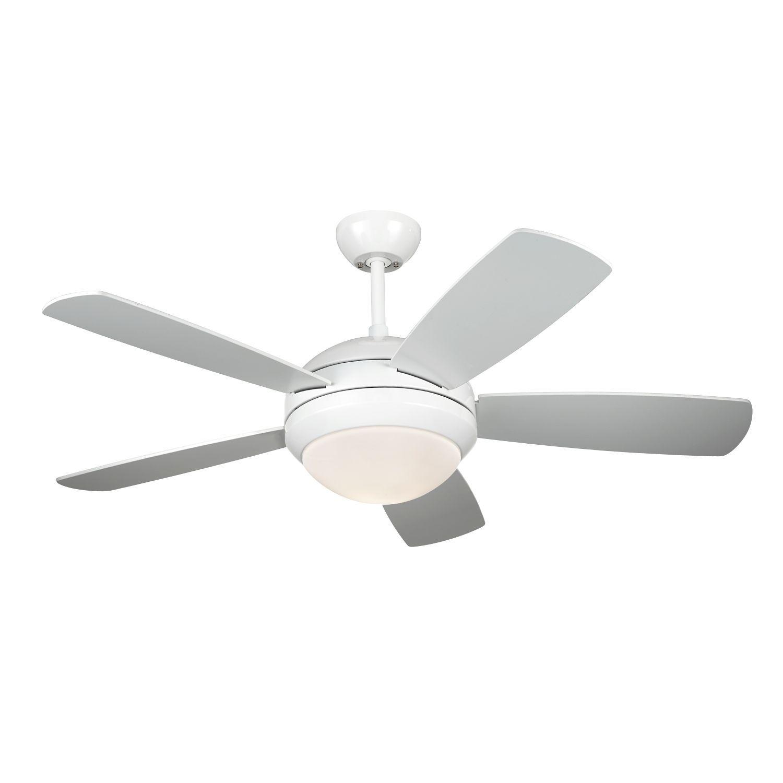 Monte Carlo Discus Ii White 44 Inch Ceiling Fan Ceiling Fan White Ceiling Fan White Ceiling