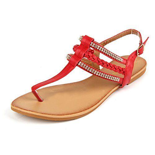 6db21a6b601 MuDan Women s Strappy Flat Sandals