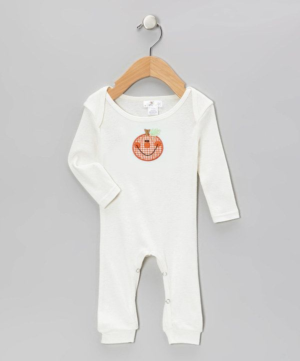 Look at this Truffles Ruffles White Gingham Pumpkin Playsuit - Infant on #zulily today!