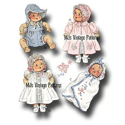 """Betsy Wetsy Doll Clothes Vtg Pattern Dress Romper ~ 15/"""" Dy Dee Tiny Tears"""