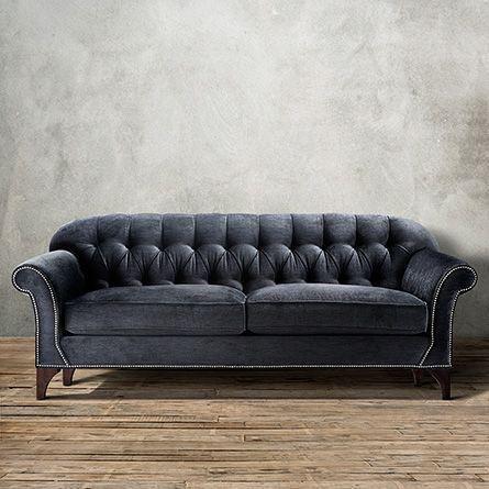 Gentil Preston Sofa In Vernon Smoke | Arhaus