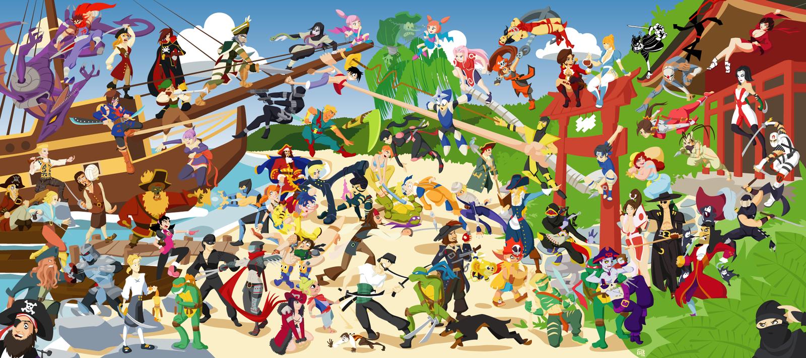 unblocked games pirates vs ninjas