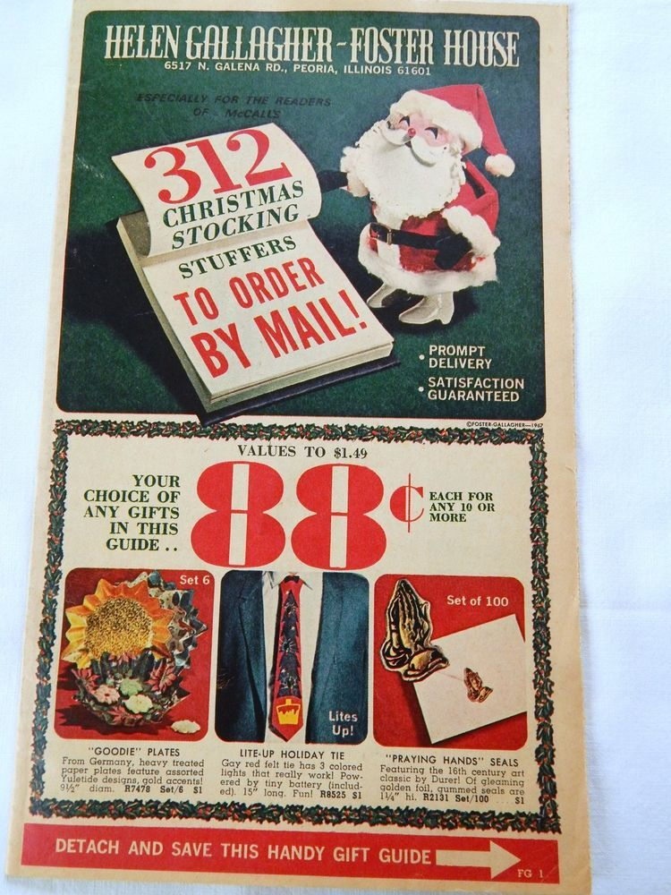 Christmas Mail Order Catalog.Vintage Mail Order Catalog Helen Gallagher Foster House Christmas