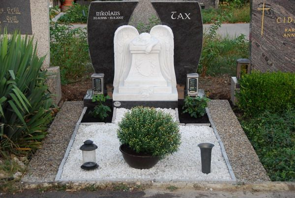 Pin by heather fettig on grave decoration ideas for Grave decorations ideas
