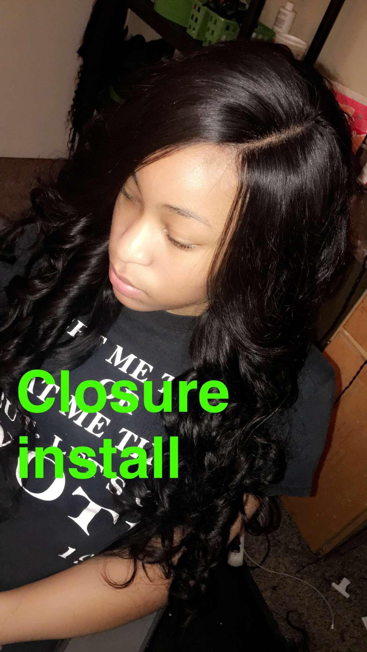 Closure Install Birminghamal Jalisias Hair Pinterest