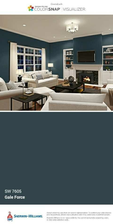 Sherwin Williams Gale Force Dining Room Decorating In