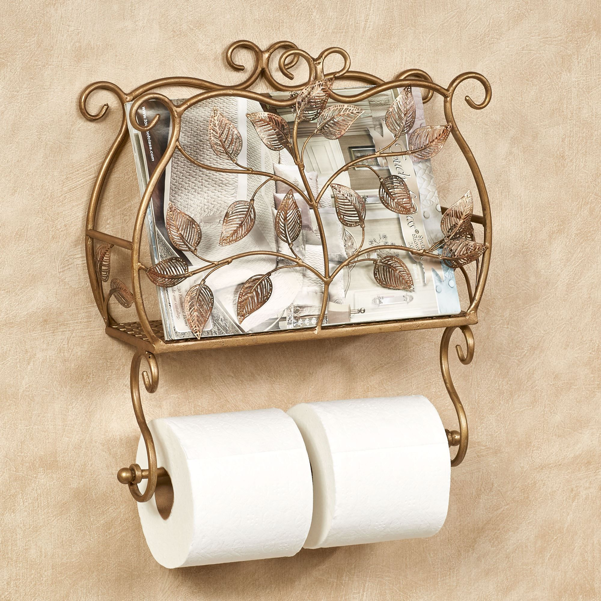 Eden Wall Toilet Paper Holder And Magazine Rack Toilet Paper Holder Toilet Paper Bronze