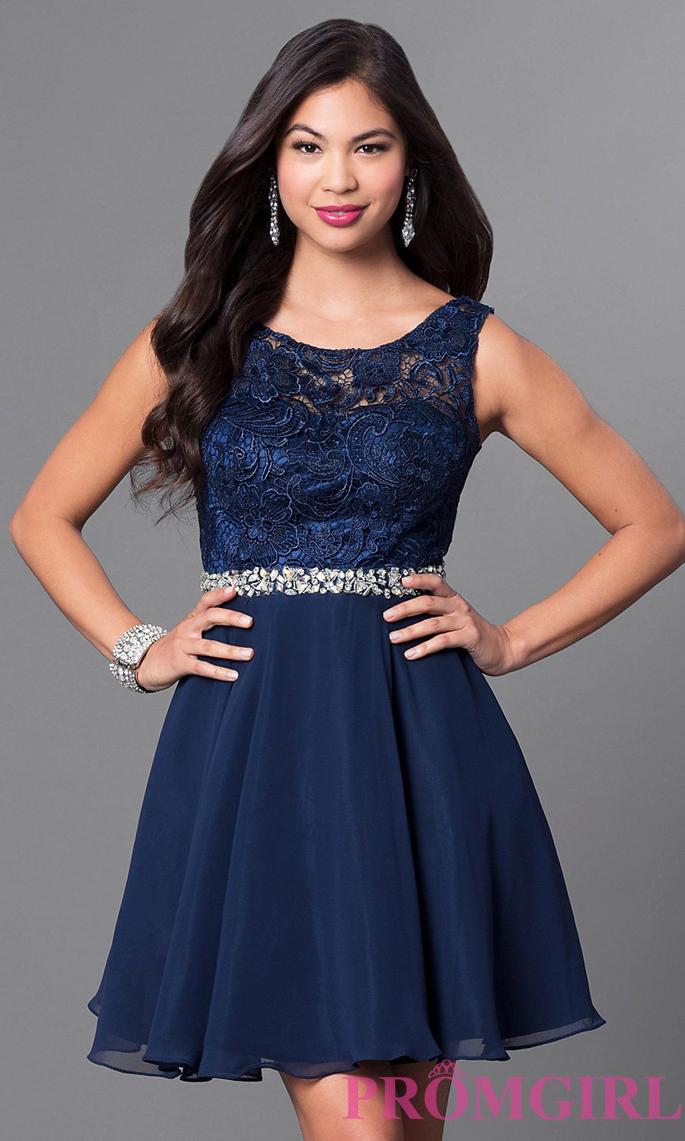Short A-Line Homecoming Dress with Lace Bodice | Homecoming 2016 ...