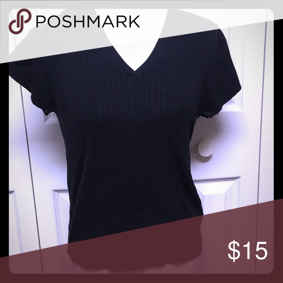 Evan Picone V Neck, short sleeve sweater V neck sweater by Evan Picone. Perfect for any outing Sweaters V-Necks