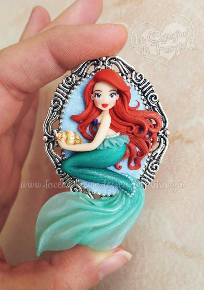 #ariel #mermaid #lecreazionidifranzin #disney #principessa #sirenetta #disneymovie #fimo #clay #handmade #handmadejewelry