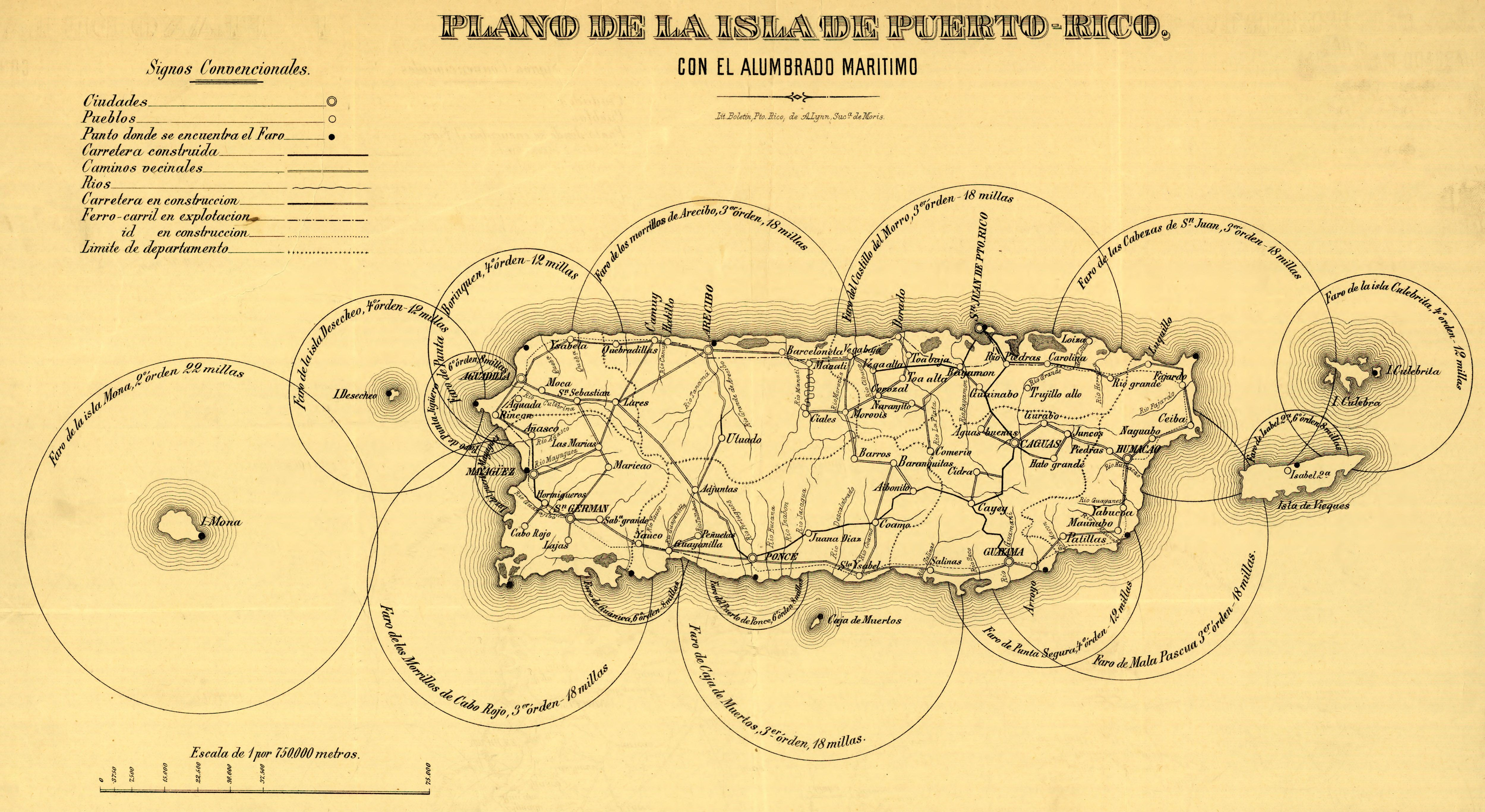 Map Of Lighthouses Of Puerto Rico 1800s Renewal Destination Which - Us-map-and-puerto-rico
