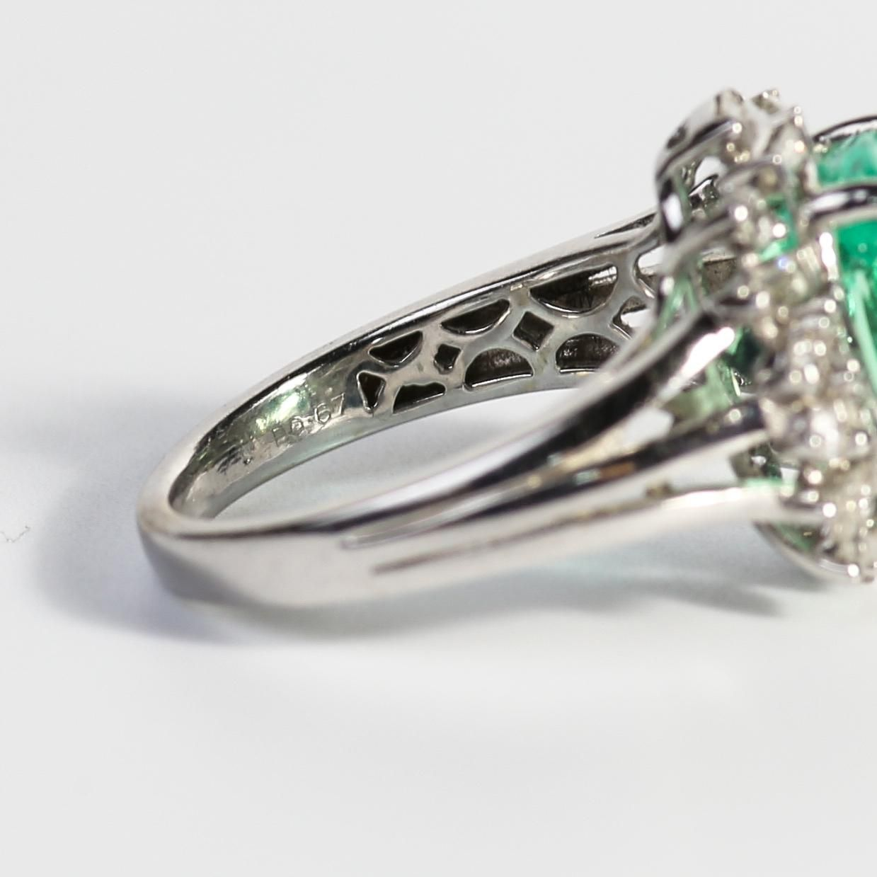 Amazing vintage k ladyus emerald u diamond ring emerald diamond