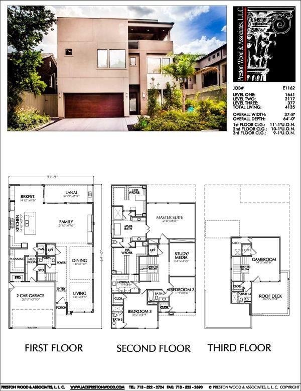 Urban Two Story Home Floor Plans Inner City Narrow Lot Home Design Preston Wood Associates House Plans House Plans Mansion Model House Plan