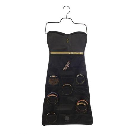 Howards Storage World | Little Black Bow Dress - Hanging Dress Organiser