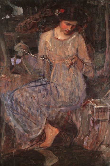 The Necklace by John William Waterhouse (1849 - 1917)