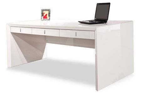 Vitra White Lacquer Glass Desk Modern Office Furniture Contemporary Furniture Office Furniture Modern White Desk Office Modern White Desk