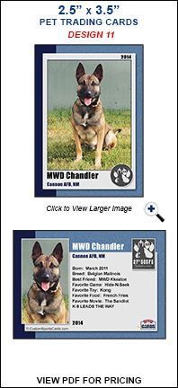 Trading Cards Pets Sample 11 Pets Working Dogs Service Animal