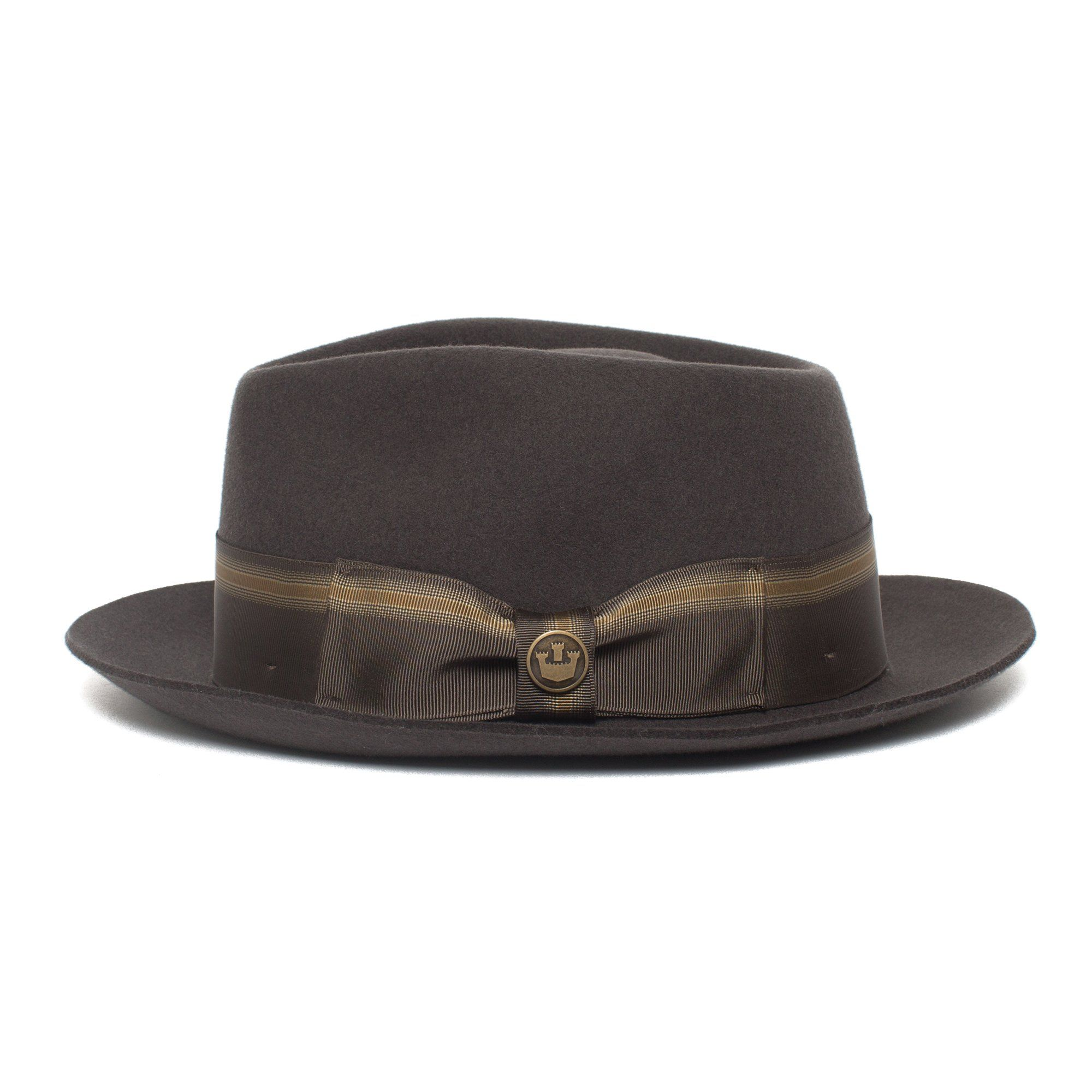 Goorin Star Boy Fedora Hat in Grey, size Small