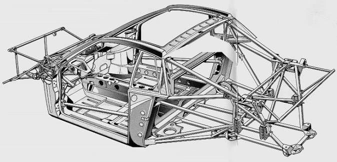 tubular race car chassis