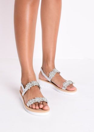 Flower Embellished Low Wedge Sandals Silver 10.00 GBP #lowwedgesandals Flower Embellished Low Wedge Sandals Silver 10.00 GBP #lowwedgesandals Flower Embellished Low Wedge Sandals Silver 10.00 GBP #lowwedgesandals Flower Embellished Low Wedge Sandals Silver 10.00 GBP #lowwedgesandals
