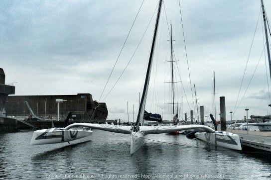 Rendez-vous au Tour de Belle Ile pour Gitana XV, nouvelle version. Objectif VOLER Image : E Allaire  #Mod70 #Superbe #Sailing | www.scanvoile.com