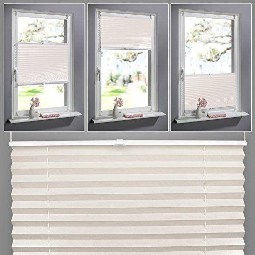 Küchenfenster Rollos shiny home plissee beige 100cm breit und 130cm hoch jalousien f r