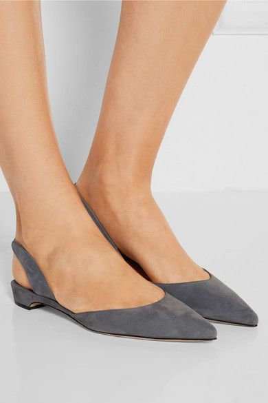 Rhea Suede Point-toe Flats - Anthracite PAUL ANDREW QRD3AUJLKI