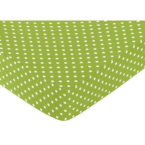 Babies R Us Percale Bassinet Sheet - Lime Dot