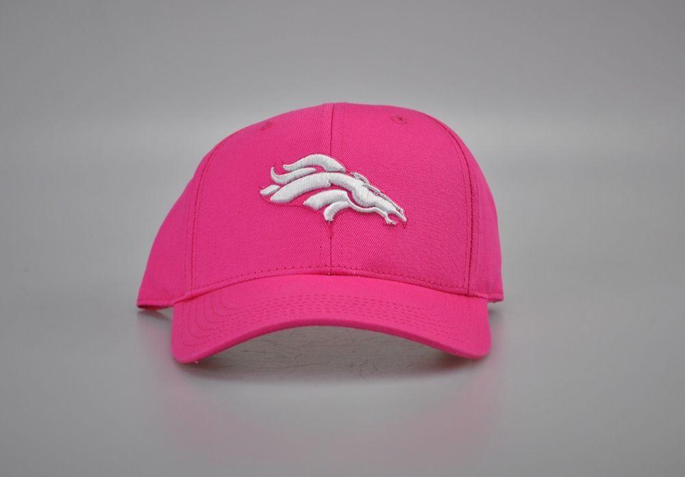 Denver broncos girls pink adjustable hat size 47 kids