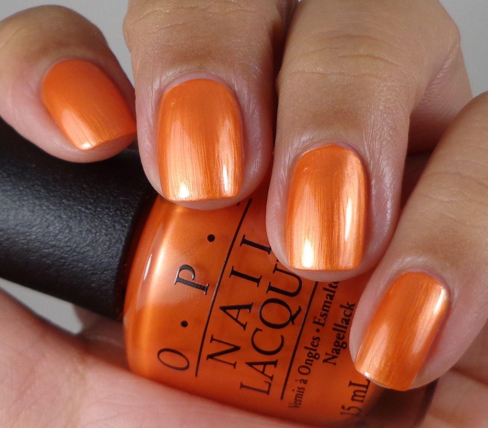 Orange Nail Polish Nz: OPI Orange You Going To The Game