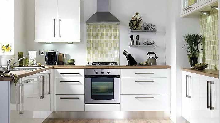 White Slab Kitchen Cabinet Doors