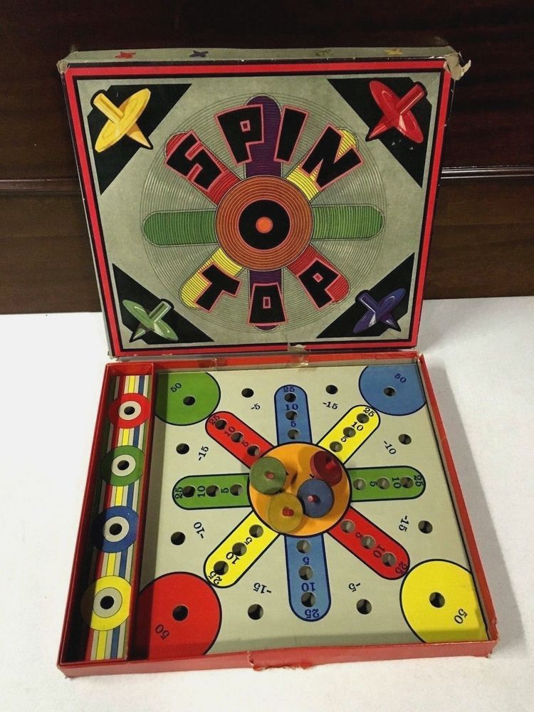 Spin Top Antique Board Game