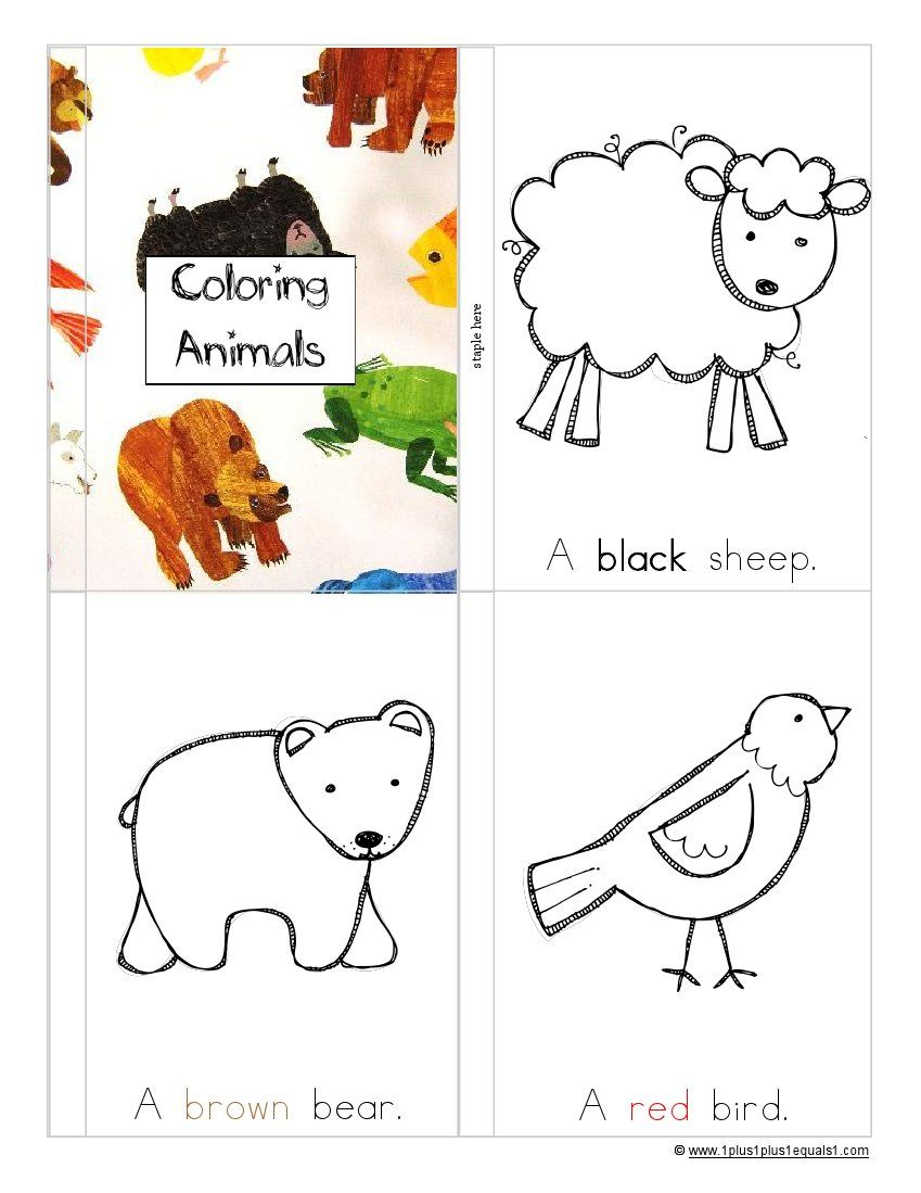 Tons Of Brown Bear Brown Bear Printables Color Activities