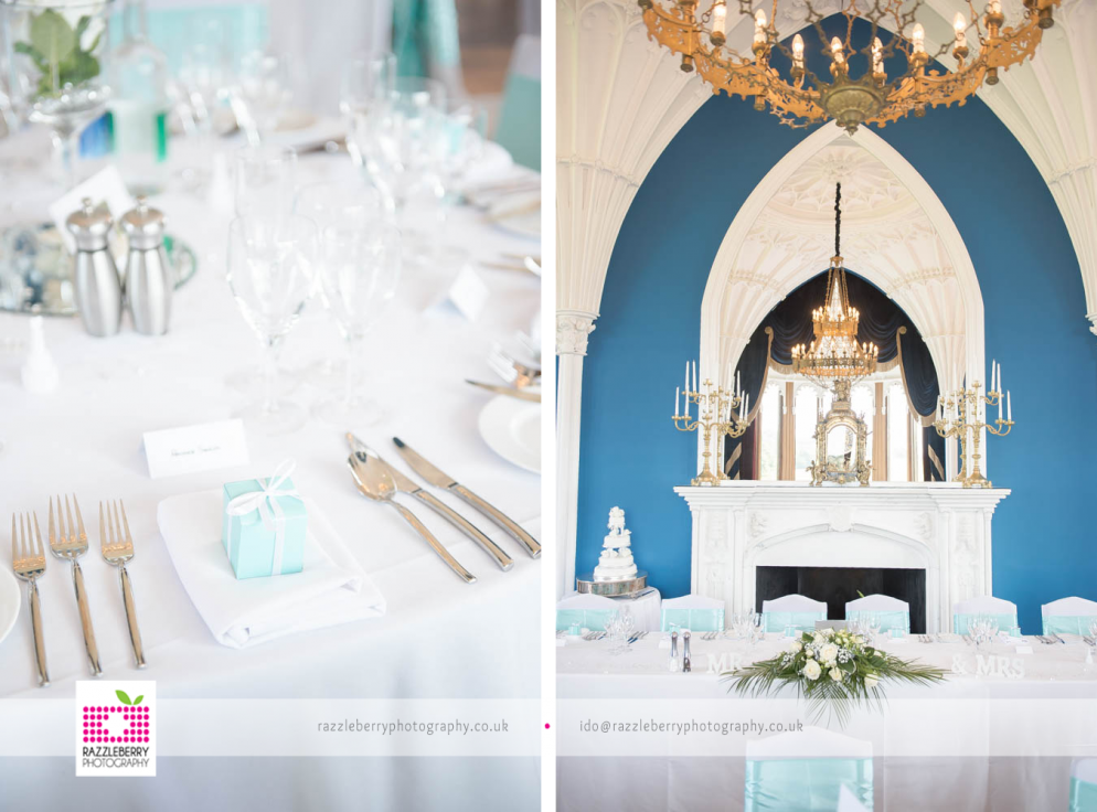 Tiffany And Co Inspired Wedding Decor Allerton Castle Wedding