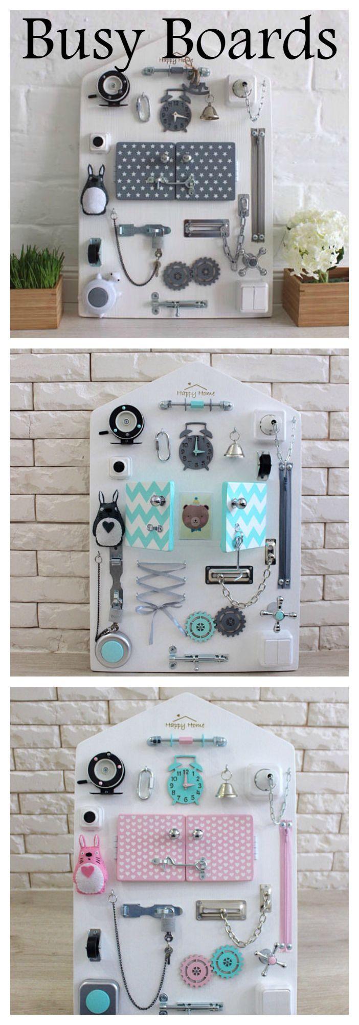 Busy board|Toddler toy|Activity board|Sensory board | Busy board ...