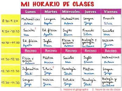 Me Encanta Escribir En Español School Schedule Spanish Lessons Spanish Numbers