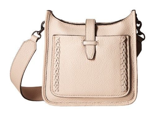 0b13cad431 Rebecca Minkoff Soft Blush Whipstitch Leather Mini Unlined Feed Handbag  New