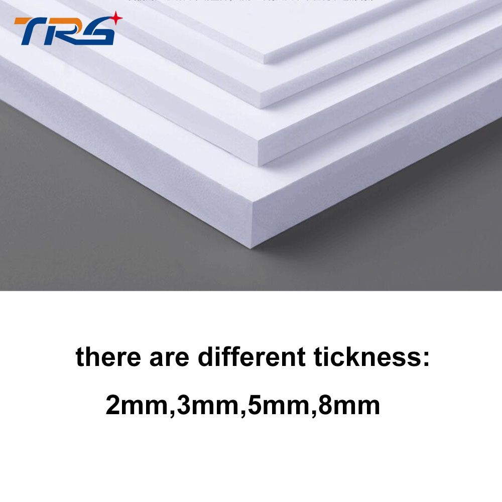Teraysun 2pcs Lot 300x400mm Pvc Foam Board Plastic Flat Sheet Board White Color Foam Sheet Model Plate Plate Foam Board Foam Sheets Foam
