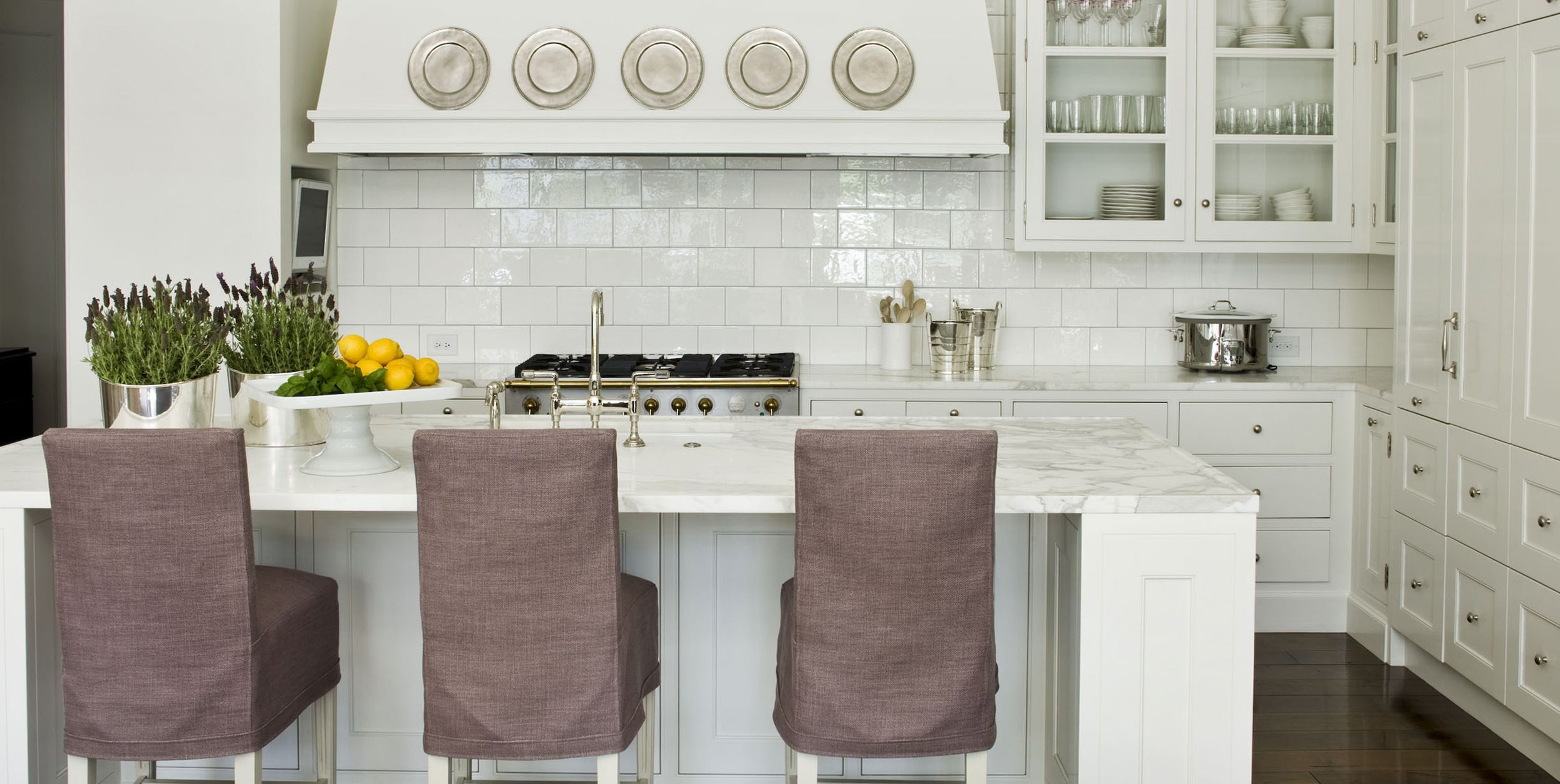 20 gorgeous kitchens with glossy  reflective tiles  grey