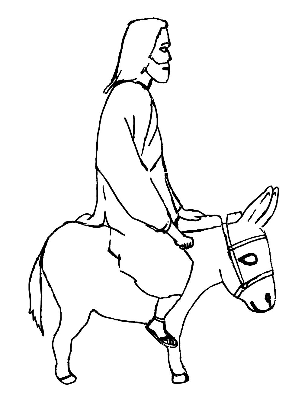 Jesus Riding A Donkey Color Sheet 7205 Jpg Jesus Enters